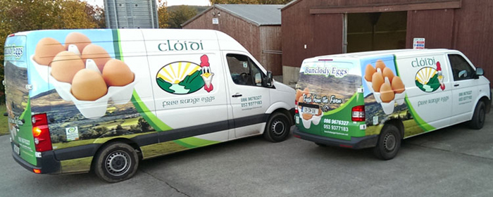 Bunclody Eggs Delivery Vans